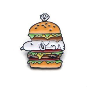 Snoopy Hamburger Enamel Pin